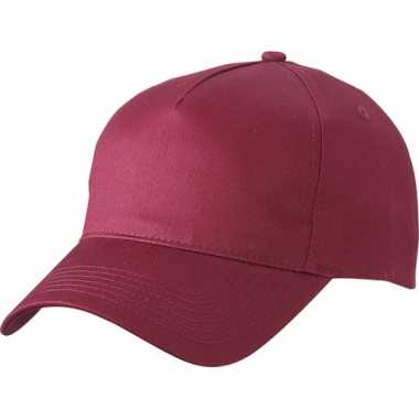 5 panel baseball pet bordeaux