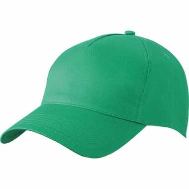 5 panel baseball pet groen