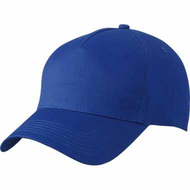 5 panel baseball pet kobalt blauw
