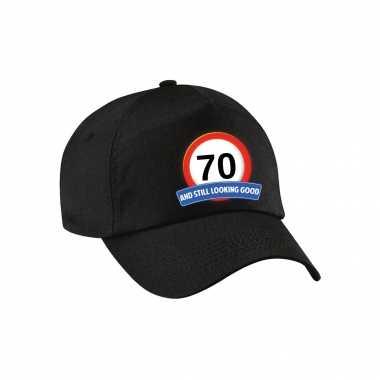 70 and still looking good stopbord pet / petje zwart voor volwassenen