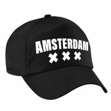 Amsterdam pet /petje zwart volwassenen