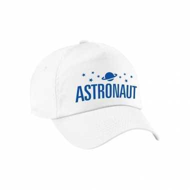 Astronaut verkleed pet wit volwassenen