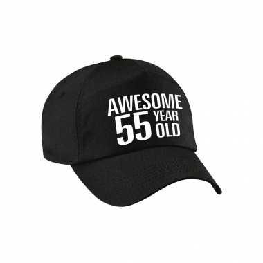 Awesome 55 year old pet / petje zwart voor dames en heren
