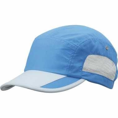 Blauw/grijze sportieve pet voor volwassenen