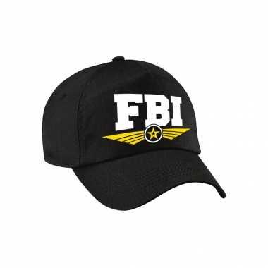 Fbi agent tekst pet / baseball petje zwart voor volwassenen