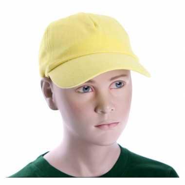 Kinder baseball petje geel