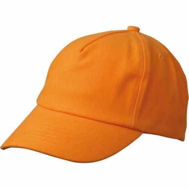 Kinder baseball petje oranje