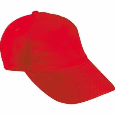 Kinder baseball petje rood