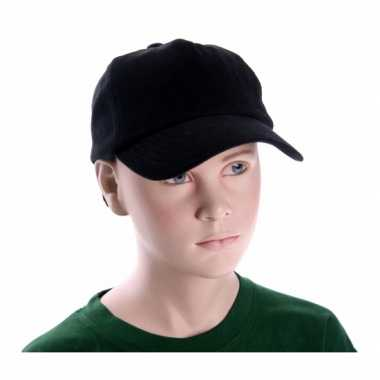 Kinder baseball petje zwart