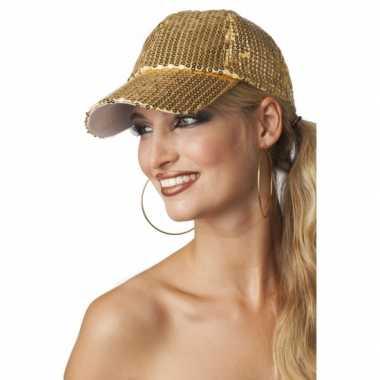 Luxe disco pet met gouden pailletten