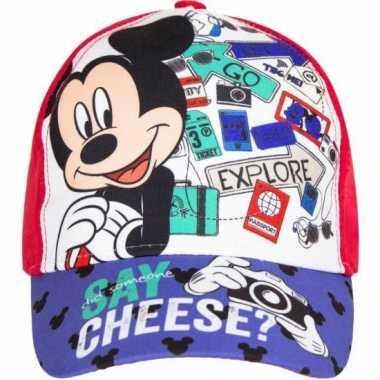 Mickey mouse pet rood voor kinderen