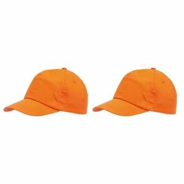 Oranje pet voor volwassenen 2 stuks