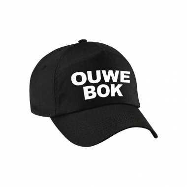 Ouwe bok verjaardag abraham pet / petje zwart voor volwassenen