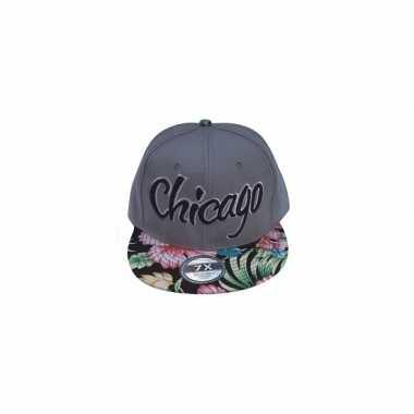 Petje Chicago grijs