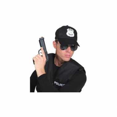 Politie pet zwart voor volwassenen