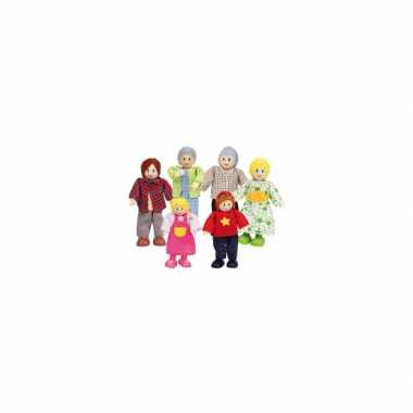 Poppenhuis poppetjes blanke familie 6 delig petje for Poppenhuis poppetjes