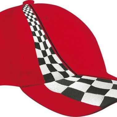 Racing petje rood