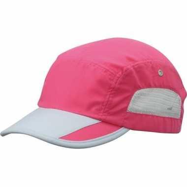 Roze/grijze sportieve pet voor volwassenen