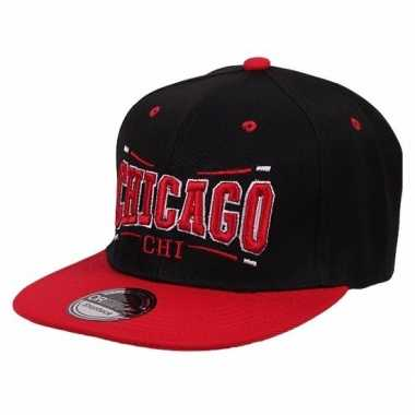 Snapback pet chicago bulls zwart/rood