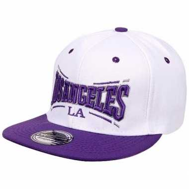 Snapback pet la lakers wit/paars