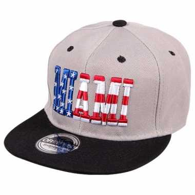 Snapback pet miami grijs