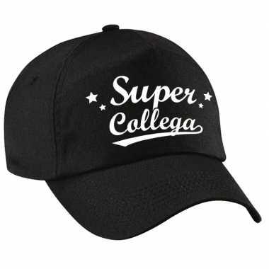 Super collega cadeau pet /petje zwart voor volwassenen