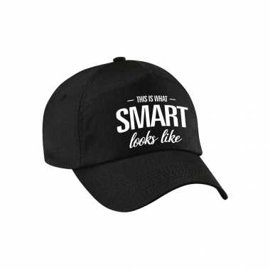 This is what smart looks like pet / petje zwart voor dames en heren