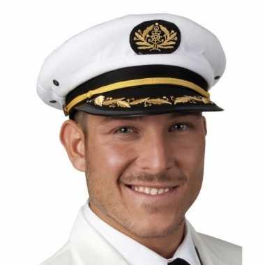 Voordelige kapiteins pet wit voor heren maat 59