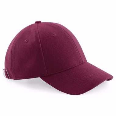 Wollen pet bordeaux voor dames