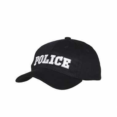 Zwarte baseball pet police