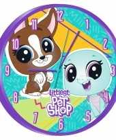 Littlest pet shop wandklok 25 cm voor kinderen