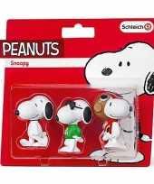 Snoopy speelfiguren set 3 stuks